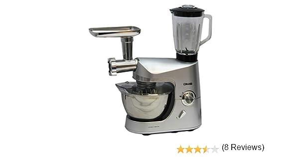 Robot de cocina batidora máquina de picar carne para mezclar dispositivo 1800 W max. Plata DMS®: Amazon.es: Hogar