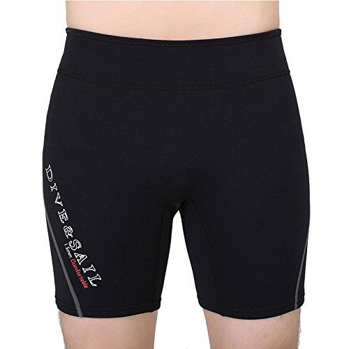 elegantstunning Swimming Wetsuits Unisex Adult Warm Short Swim Trunks Waterproof Thick for Diving Snorkeling Tool Red L