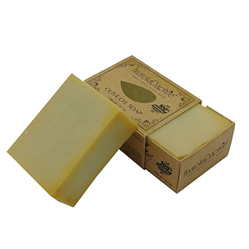 Olive Natural Soap - AnatoliaDaphne Olive Oil Soap Bar - 100% Pure Natural & Artisan Crafted Quality  (Single Bar)