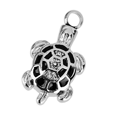 Various Patterns Stainless Steel Cremation Urn Memorial Keepsake Pendant Jewelry Necklace Jewelry Crafting Key Chain Bracelet Pendants Accessories Best| Item - Tortoise ()