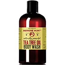 Medicine Man's Tea Tree Oil Acne Treatment Body and Face Wash - Natural Antibacterial and Antifungal Soap 9 oz - Acne, Fungus, Athlete's Foot, Jock Itch Cleanser
