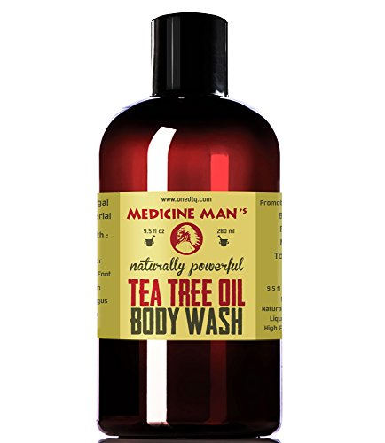 Medicine Man's Tea Tree Oil Body Wash; Natural Acne Treatment; Antibacterial and Antifungal Care for Skin Fungus, Athlete's Foot, Jock Itch; 9 Ounces Liquid Soap (Best Anti Itch Cream For Groin)