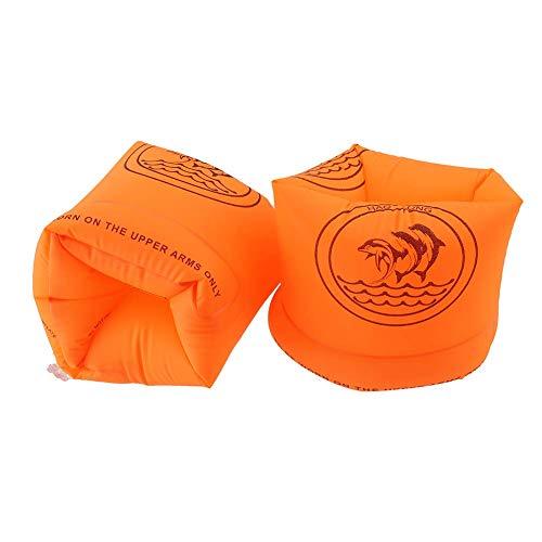 암 링 암 도우미 스노클링 성인 (90kg 이하) 유아 어린이 우기원 수영 용품 팔찌 2 개 세트 (오렌지)