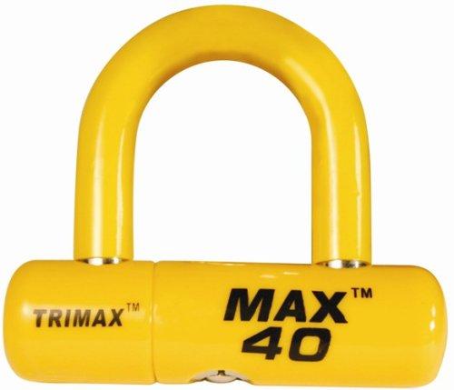 Trimax MAX40YL High Security Disc U-Lock con 2' x 1/2' Shackle, yellow