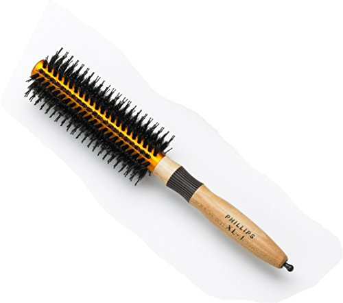 Extended Barrel (Phillips Brush XL-1 Round Brush with Reinforced Boar Bristle and Aluminum Barrel 2 inch Diameter)