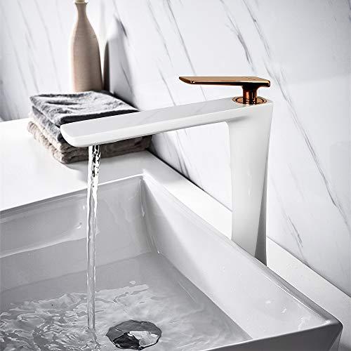 white lavatory faucet - 7