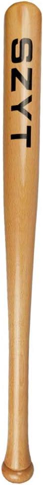 SZYT Baseball Bat Self-Defense Softball Bat Home Defense Lightweight Wood 25 inch Yellow