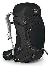 Osprey Stratos 50 Men's Ventilated Hiking Pack - Black (M/L)
