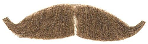Loftus Real Human Hair Petit Handlebar Gay 90s Moustache, Brown, One (Best Halloween Costumes 1990s)