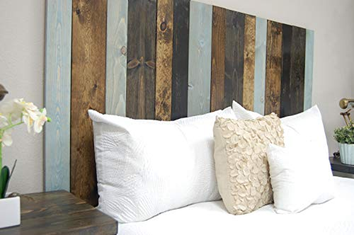 Bedroom All Terrain Mix Headboard King Size, Leaner Style, Handcrafted. Leans on Wall. Easy Installation. farmhouse headboards