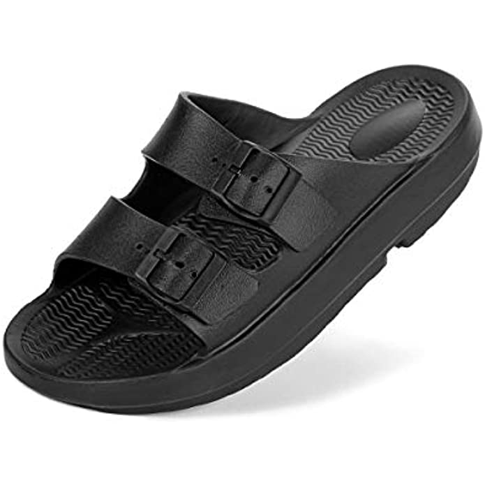 Unisex Slippers EVA Slider Arch Support Sandals Men and Women with Recovery Sandals for Plantar Fasciitis