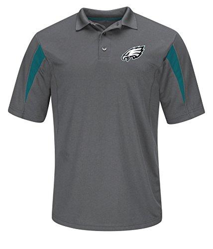 NFL Philadelphia Eagles Men's Pass Through Synthetic Polo, Storm Gray/Marine Green, - Polo Philadelphia Store
