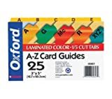 Oxford Alphabetic Card Guides, Laminated