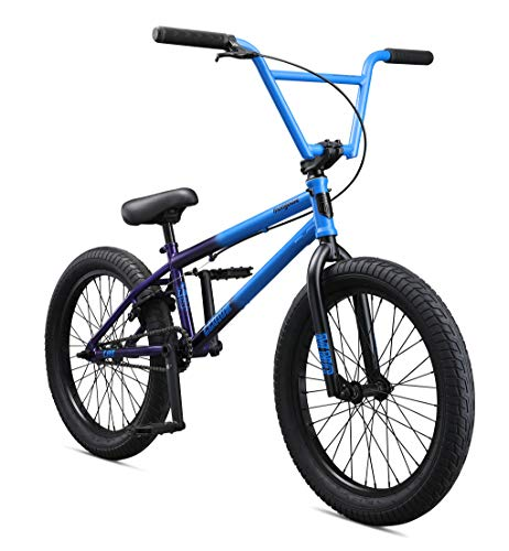 Mongoose Legion L80 Freestyle BMX Bike for Intermediate to Advanced Riders, Featuring 4130 Chromoly Frame and Micro Drive 25x9T BMX Gearing with 20-Inch Wheels, Light Blue