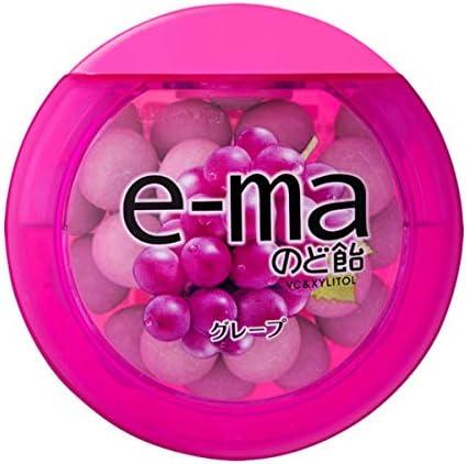 味覚糖 e-maのど飴容器グレープ 18個入