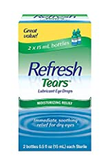 Long-lasting relief plus protection. Patented formula with Purite. No. 1 doctor recommended eye drop brand. For mild-to-moderate dry eye. Refresh Tears Lubricant Eye Drops restores the moisture your eyes crave with a special formula that has ...
