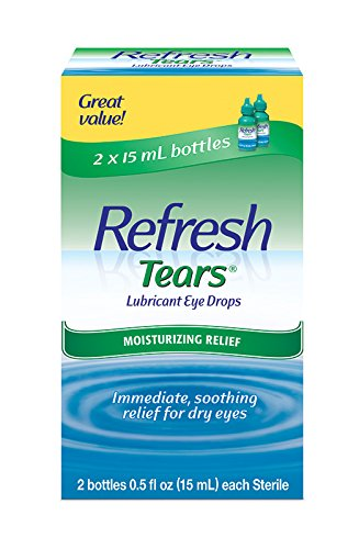 Refresh Tears Lubricant Eye Drops, 2 Bottles 0.5 fl oz ,15mL each Sterile ,30mL ()