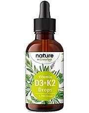 Vitamin D3 + K2 MK-7 i Droppform - 5000 I.E. per 5 Droppar - 50 ml (1700 Droppar) - Högkoncentrat och Hög Bioaktivitet med MCT-Olja - Premium: K2VITAL® från Kappa 99,7% All-Trans