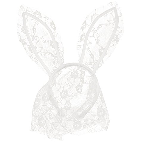 (Song Rabbit Ear Lace Veil Mask Headband Halloween Party Cosplay)