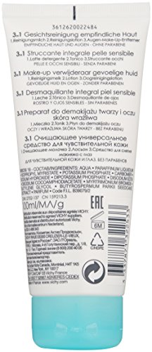 41SOwOQn8dL Vichy Pureté Thermale 3-in-1 One Step Face Wash Cleanser and Eye Makeup Remover for Sensitive Skin, 3.3 Fl. Oz.