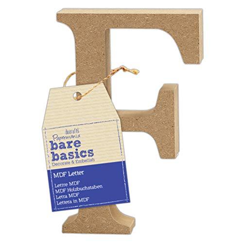 MDF Letter (1 Piece) – Bare Basics – F