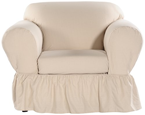 Classic Slipcovers WC302PRPSS 2 Piece Ruffled Chair Slipcover, -
