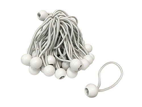6'' WHITE Bungee Balls (50 Pack) by EZ Travel Collection