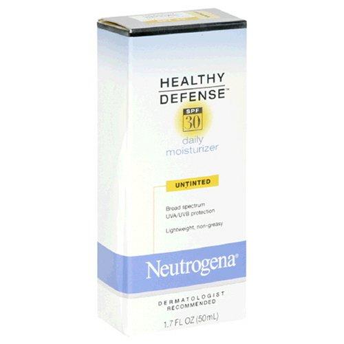Neutrogena Healthy Defense Daily Moisturizer, SPF 30, Untinted, 1.7 Fluid Ounce (50 ml)