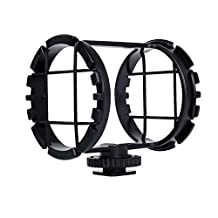 """Movo SMM2 Camera Shoe Shockmount for Shotgun Microphones 1"""" to 2"""" in Diameter (Fits the Zoom H1)"""