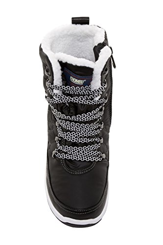 Womens Cold Mid Spirit Calf alta Khombu Black Weather Toe Boots Closed dw0xqAwFB