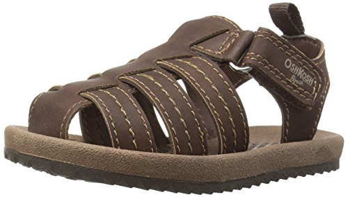 Toddler Fisherman Sandals (OshKosh B'Gosh Callum Boy's Fisherman Sandal Sandal, Brown, 10 M US Toddler)