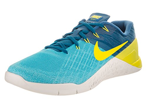 NIKE Men's Metcon 3 Chlorine Blue/Electrolime Training Shoe 11.5 Men US
