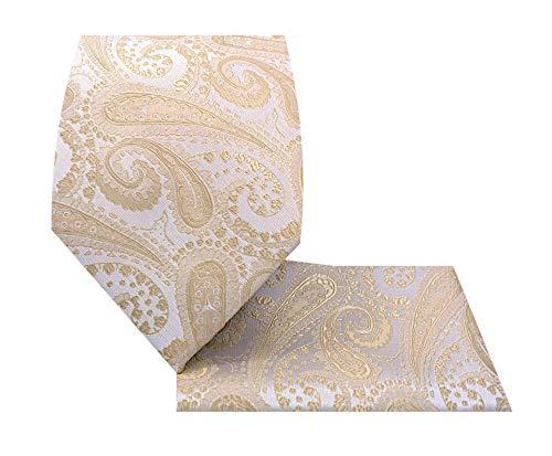 Paisley Necktie Set-1212-W-Paisley 2-Beige