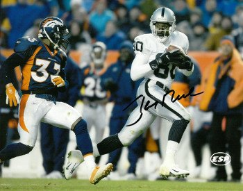 Jerry Rice Raiders Jersey (Athlon CTBL-017022 Jerry Rice Signed Oakland Raiders Photo - Jersey - White - 8 x 10)