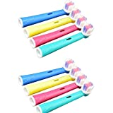 GENERIC 8pcs for the PRICE of MULTICOLOR Electric Toothbrush Soft Bristles Heads Replacement Oral Health Care Generic Oral B Compatible Brush Head Replacement Braun Professional Care, Professional Care, SmartSeries, TriZone, Advance Power, Pro Health