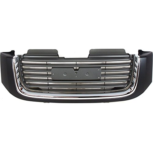 2005 Gmc Envoy Grille - Evan-Fischer EVA17772019918 Grille for GMC Envoy 02-09 Painted-Black Shell/Painted-Gray Insert W/Chrome Insert Opening Molding