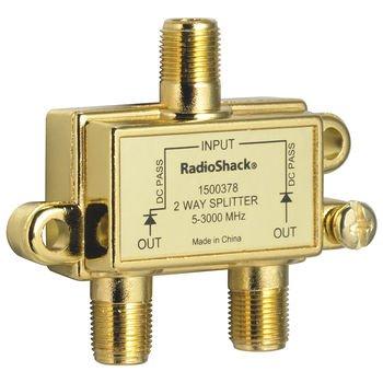 Solderback Splitter - RadioShack 3.0GHz 2-Way Satellite/Broadband Diode 2-Way Splitter
