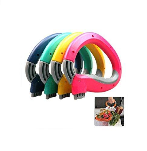 DingSheng Dispositivo de transporte de mano para transportar verduras, de silicona, color caramelo, dispositivo portátil…