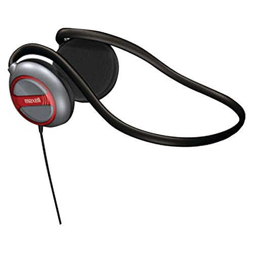 Maxell 190316 Behind-The-Neck Stereo Headphones With Swivel Earcups; - Maxell Digital Stereo Neckband Headphones