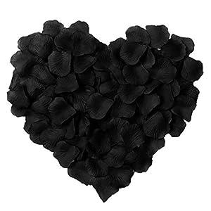 Artificial Silk Rose Petals Wedding Flower for Decoration, Black 57