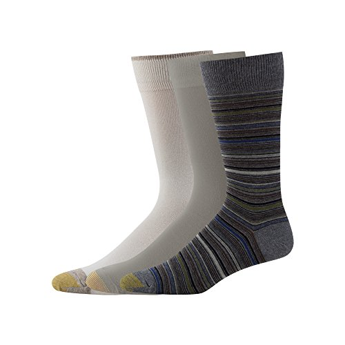 Gold Toe Mens 3-Pack Fashion Crew Sock