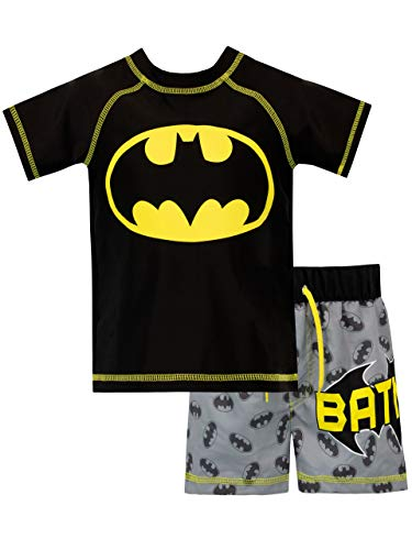 Batman Boys' Two Piece Swim Set Size 3T - Crusader Set Costume