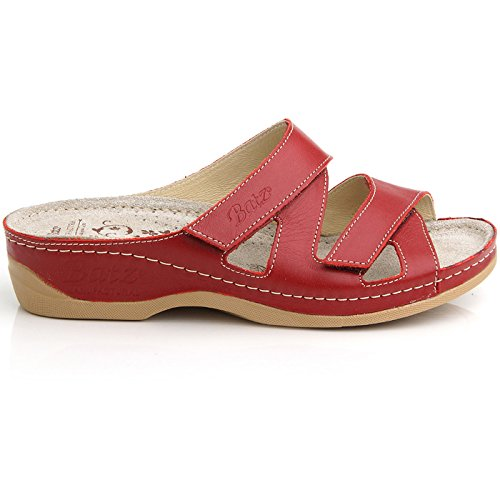 qualità rossa Sandali donna di Eni pelle Batz superiore in muli zBwXWU