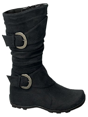 Lucky Top Best 79F Baby Girls Slouch Mid Calf Boots Black