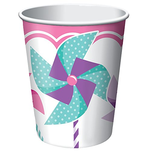 Creative Converting Turning One - Girl Hot/Cold Cups (8 Count), 9 oz
