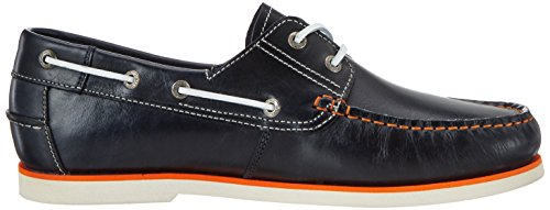 camel active Sail 11, Náuticos Para Hombre Azul (midnight orange)