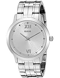 GUESS Women's U0634L1 Vintage Inspired Silver-Tone Watch