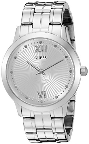 UPC 091661454394, GUESS Women's U0634L1 Vintage Inspired Dressy Silver-Tone Watch