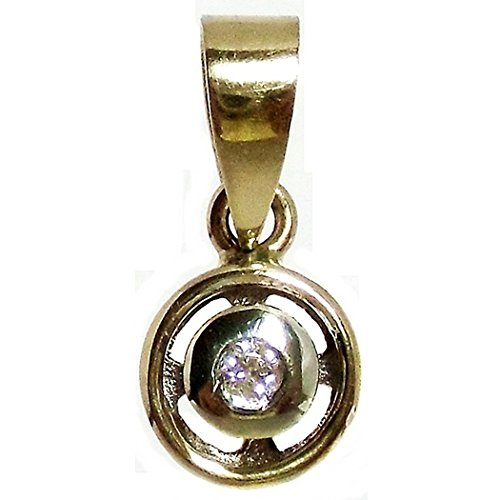 18k Pendentif en or brillant diamant bicolor [564T]