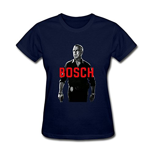 CHENGXINGDA Women's Bosch TV 2016 Logo Short Sleeve T-Shirt S ColorName (Tv Shows Harry Bosch compare prices)